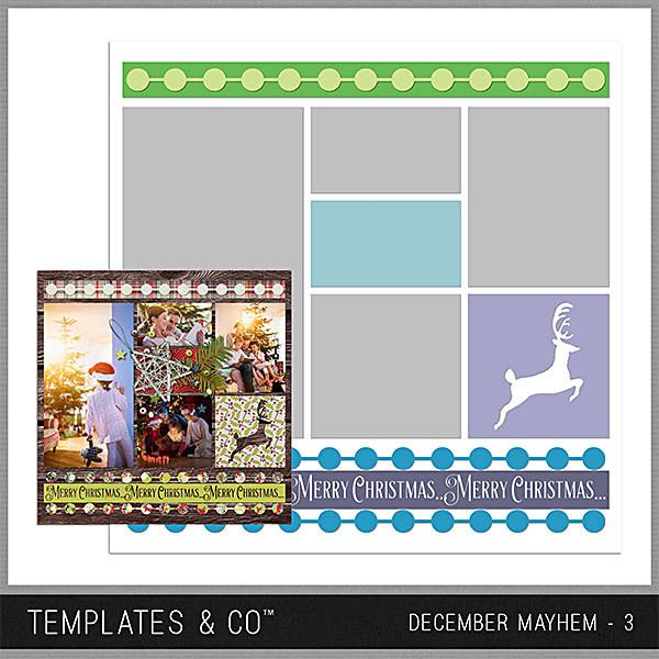 December Mayhem 3 Digital Art - Digital Scrapbooking Kits