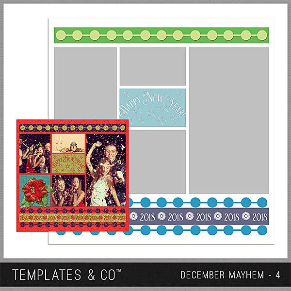 December Mayhem 4 Digital Art - Digital Scrapbooking Kits