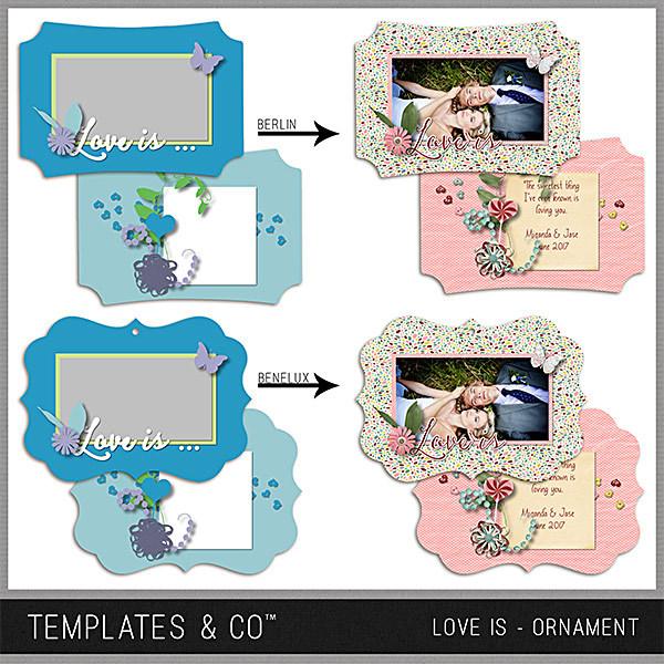Love Is Ornament Digital Art - Digital Scrapbooking Kits