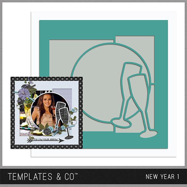 New Year 1 Digital Art - Digital Scrapbooking Kits