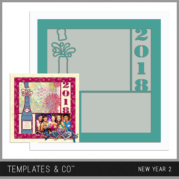 New Year 2 Digital Art - Digital Scrapbooking Kits