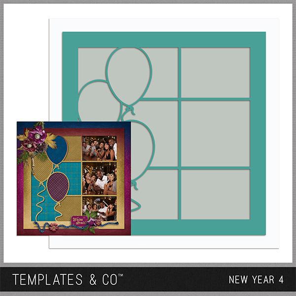 New Year 4 Digital Art - Digital Scrapbooking Kits