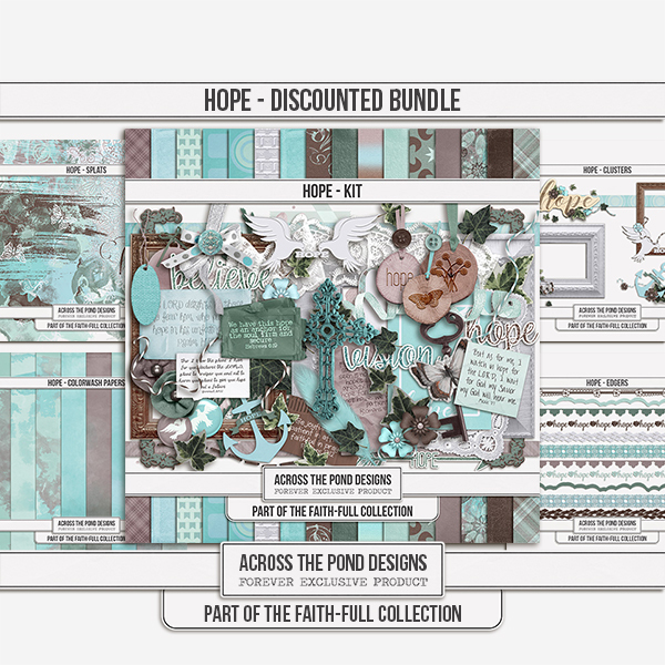 Faithfull - Hope - Discounted Bundle Digital Art - Digital Scrapbooking Kits