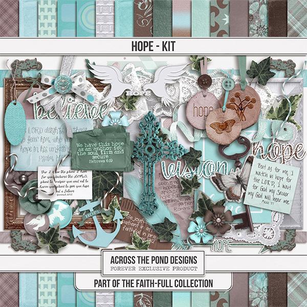 Faithfull - Hope - Page Kit Digital Art - Digital Scrapbooking Kits