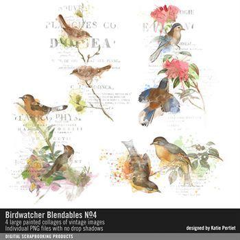 Birdwatcher Blendables No. 04 Digital Art - Digital Scrapbooking Kits