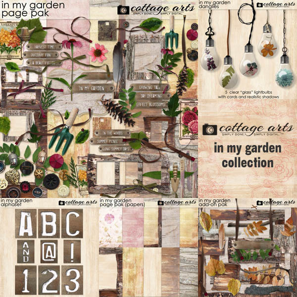 In My Garden Collection Digital Art - Digital Scrapbooking Kits