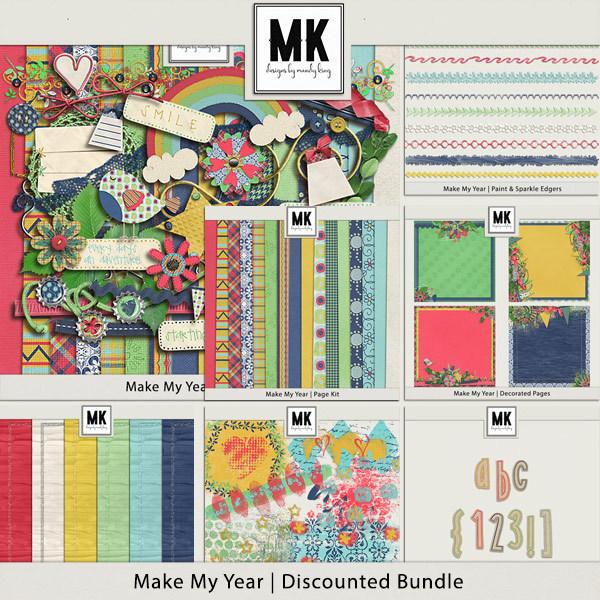 Make My Year - Discounted Bundle Digital Art - Digital Scrapbooking Kits