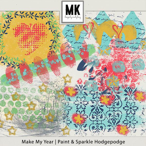 Make My Year - Hodgepodge Digital Art - Digital Scrapbooking Kits