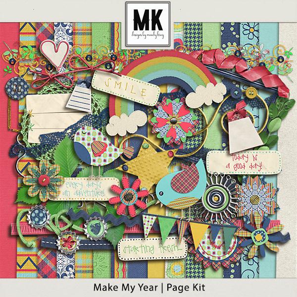 Make My Year - Page Kit Digital Art - Digital Scrapbooking Kits