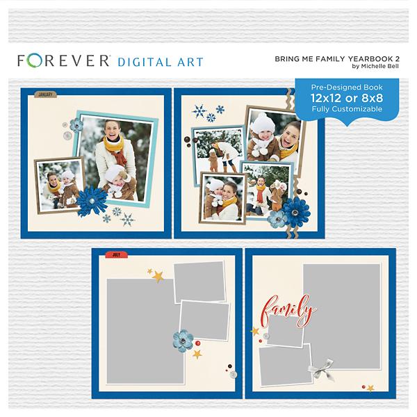 Bring Me Family Yearbook 2 Digital Art - Digital Scrapbooking Kits