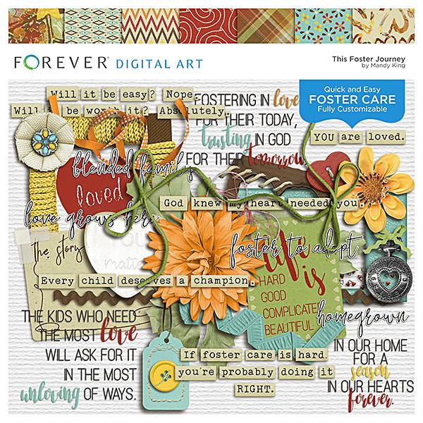The Foster Journey Digital Art - Digital Scrapbooking Kits