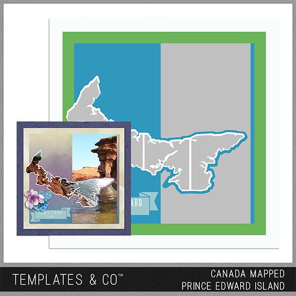 Canada Mapped - Prince Edward Island Digital Art - Digital Scrapbooking Kits