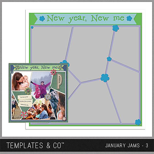 January Jams 3 Digital Art - Digital Scrapbooking Kits