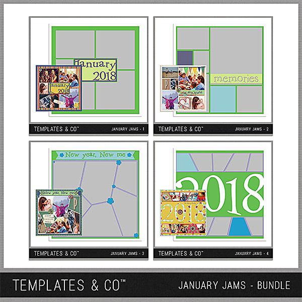 January Jams Bundle Digital Art - Digital Scrapbooking Kits