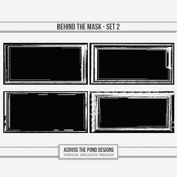 Behind The Mask - Set 2 Digital Art - Digital Scrapbooking Kits