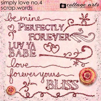 Simply Love 4 Scrap.words Digital Art - Digital Scrapbooking Kits