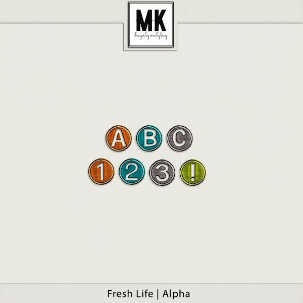 Fresh Life - Alpha Digital Art - Digital Scrapbooking Kits