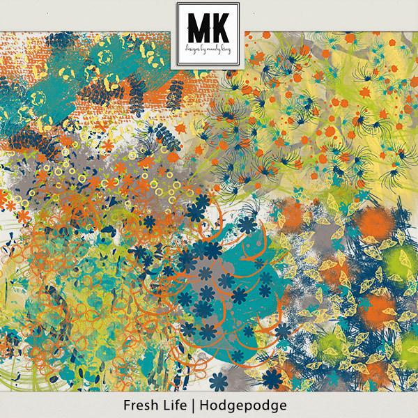 Fresh Life - Hodgepodge Digital Art - Digital Scrapbooking Kits