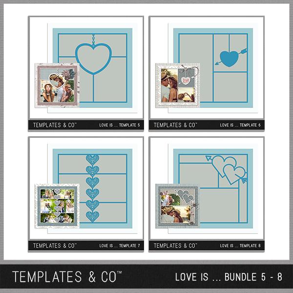 Love Is ... Bundle 5 - 8 Digital Art - Digital Scrapbooking Kits