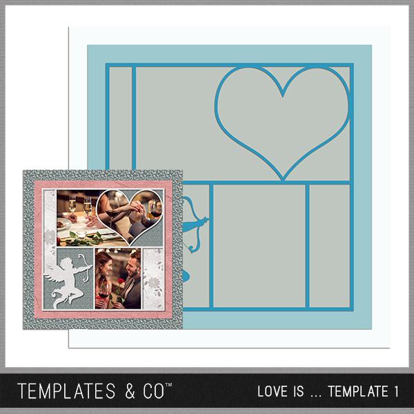 Love Is ... Template 1 Digital Art - Digital Scrapbooking Kits