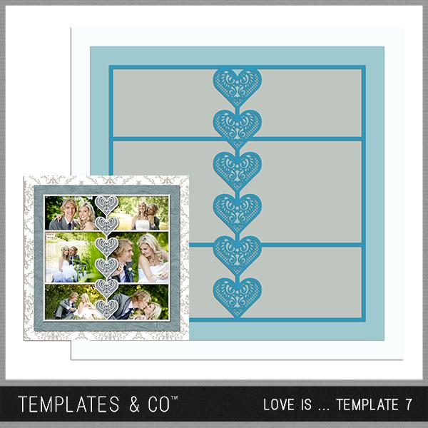 Love Is ... Template 7 Digital Art - Digital Scrapbooking Kits
