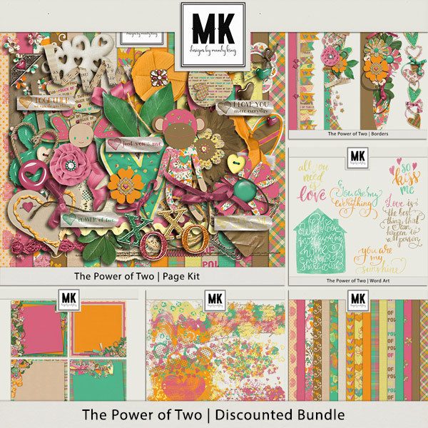 Power Of Two - Discounted Bundle Digital Art - Digital Scrapbooking Kits