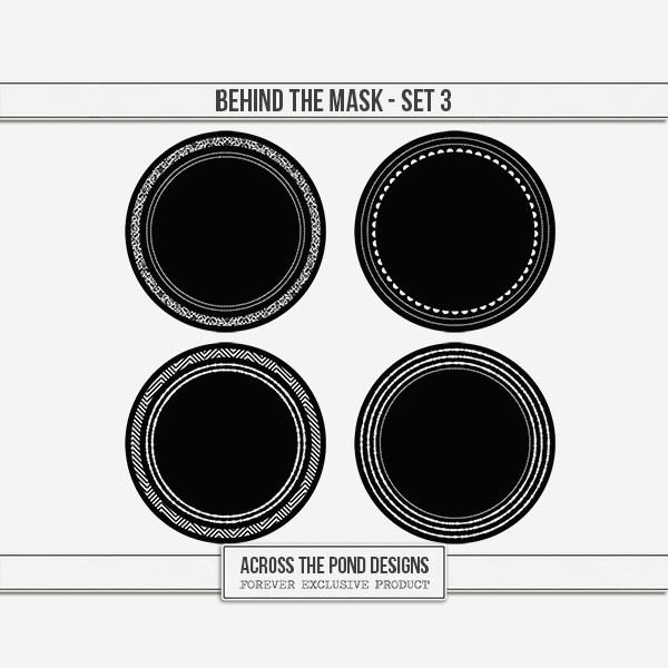 Behind The Mask - Set 3 Digital Art - Digital Scrapbooking Kits