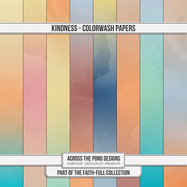 Faithfull - Kindness - Colorwash Papers Digital Art - Digital Scrapbooking Kits