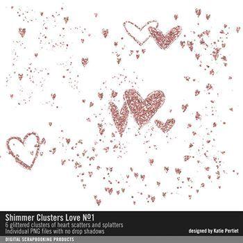 Shimmer Clusters Love No. 01 Digital Art - Digital Scrapbooking Kits