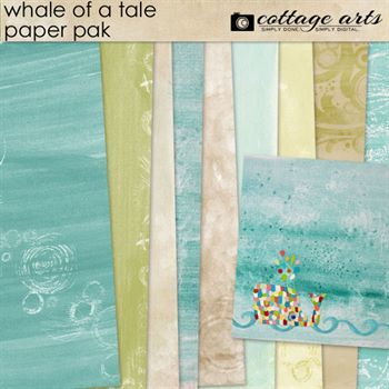 Whale Of A Tale Paper Pak Digital Art - Digital Scrapbooking Kits