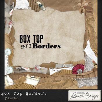 Box Top Borders Set 2 Digital Art - Digital Scrapbooking Kits
