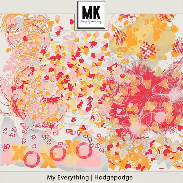 My Everything - Hodgepodge Digital Art - Digital Scrapbooking Kits