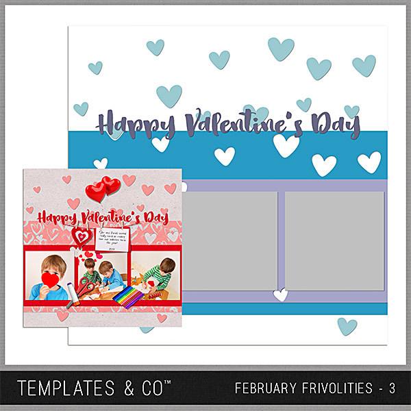 February Frivolities 3 Digital Art - Digital Scrapbooking Kits