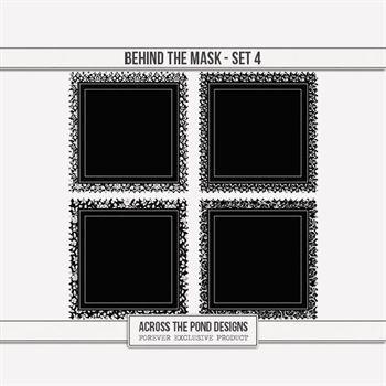 Behind The Mask - Set 4 Digital Art - Digital Scrapbooking Kits