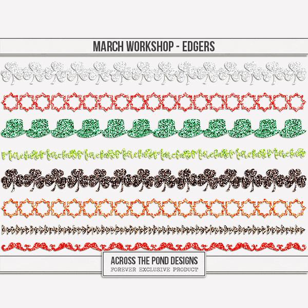 March Workshop - Edgers Digital Art - Digital Scrapbooking Kits