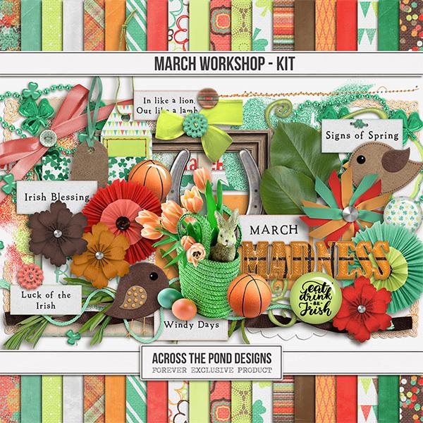 March Workshop - Page Kit Digital Art - Digital Scrapbooking Kits