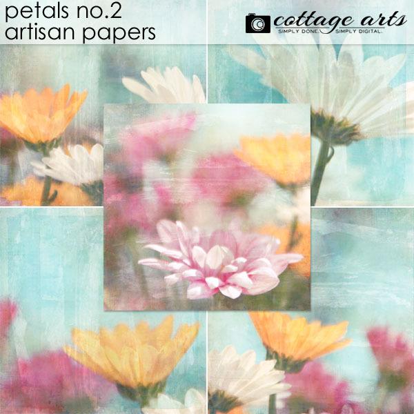Petals 2 Artisan Papers Digital Art - Digital Scrapbooking Kits