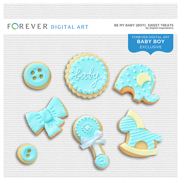 Be My Baby Boy - Sweet Treats Digital Art - Digital Scrapbooking Kits