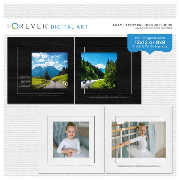 Framed 12x12 Pre-designed Book Digital Art - Digital Scrapbooking Kits