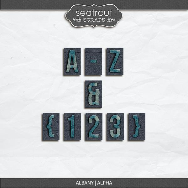 Albany Alpha Digital Art - Digital Scrapbooking Kits
