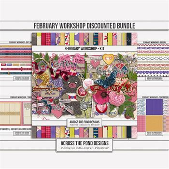 February Workshop - Discounted Bundle Digital Art - Digital Scrapbooking Kits