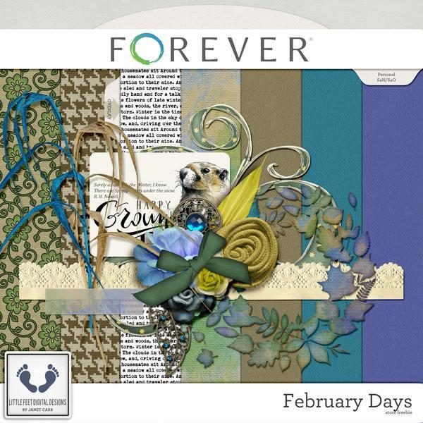 February Days Freebie Digital Art - Digital Scrapbooking Kits