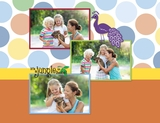 Cheerful Zoo 11x8.5 Predesigned Pages