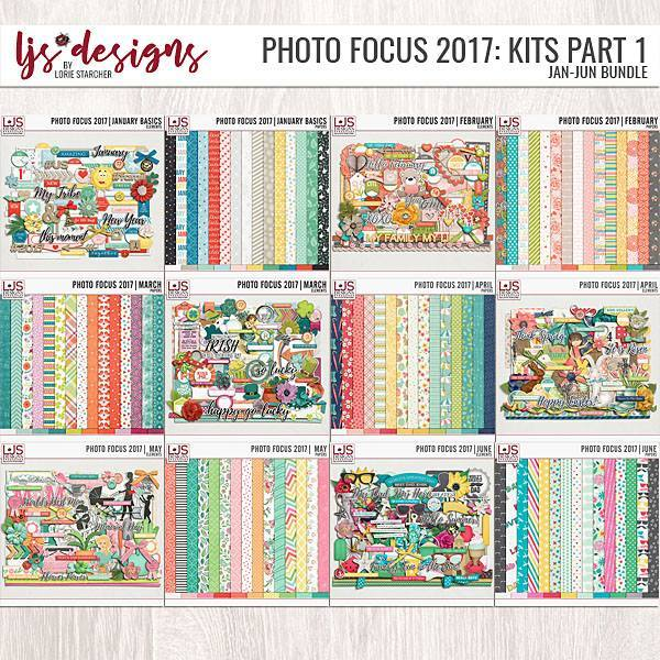 Photo Focus 2017 - Kit Bundle Part 1 (Jan-Jun) Digital Art - Digital Scrapbooking Kits