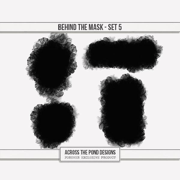 Behind The Mask - Set 5 Digital Art - Digital Scrapbooking Kits