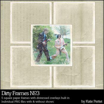 Dirty Frames No. 03 Digital Art - Digital Scrapbooking Kits