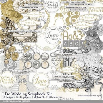 I Do Wedding Scrapbooking Kit Digital Art - Digital Scrapbooking Kits