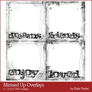 Messed Up Overlays Digital Art - Digital Scrapbooking Kits
