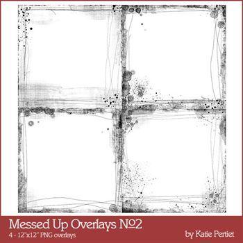 Messed Up Overlays No. 02 Digital Art - Digital Scrapbooking Kits