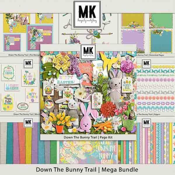 Down The Bunny Trail Mega Collection Digital Art - Digital Scrapbooking Kits